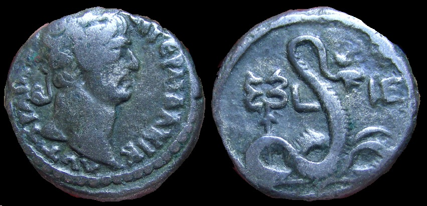 Coin with Agathodaemon