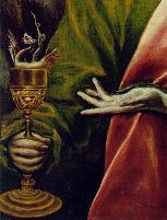 Detail - Saint John the Evangelist, by El Greco